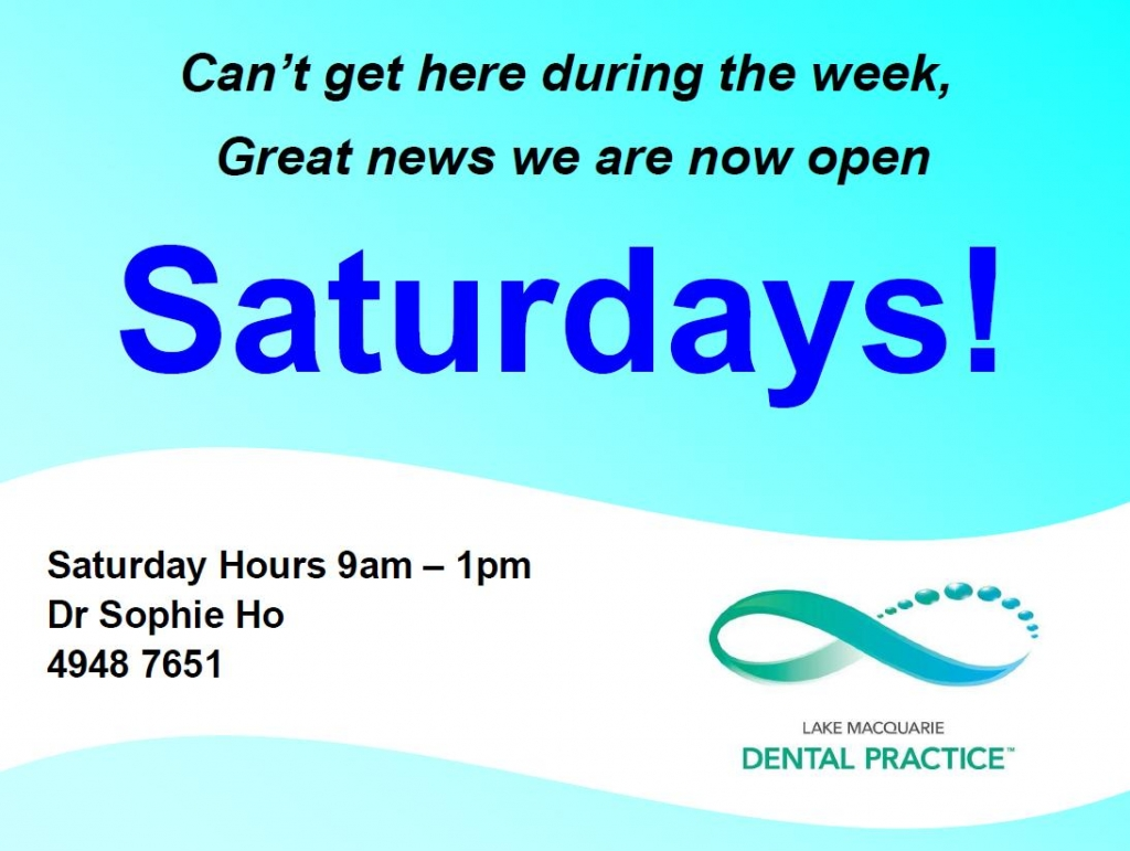 Saturday Appointments Now Available