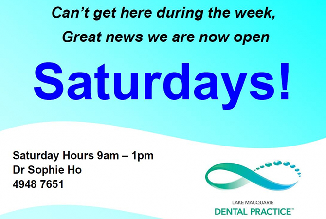 Saturday appointments now available!
